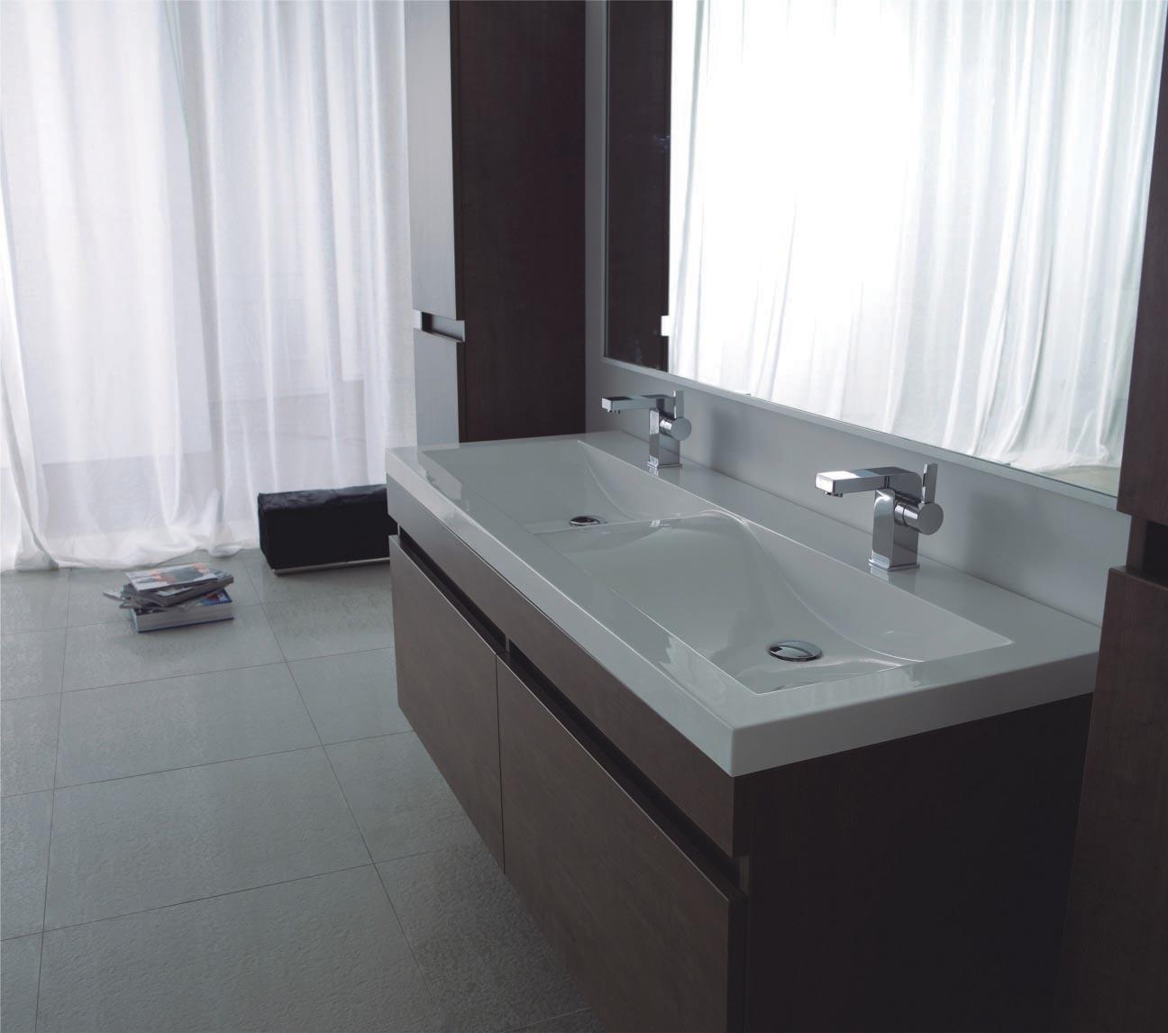 badm bel waschplatz waschtisch doppelwaschtisch luxor ebay. Black Bedroom Furniture Sets. Home Design Ideas