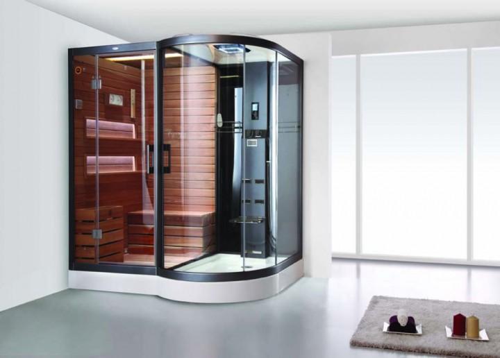 dampfdusche sauna kombination crw ag0003 zedernholz. Black Bedroom Furniture Sets. Home Design Ideas