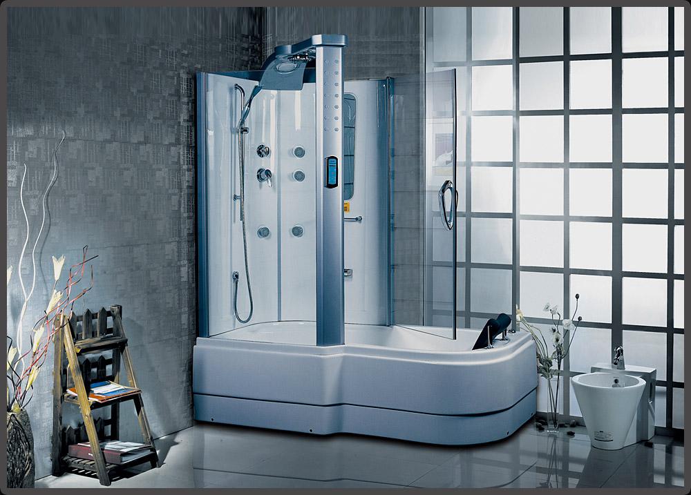 ... mit Whirlpool A305 Duschkabine Duschabtrennung Badewanne  eBay