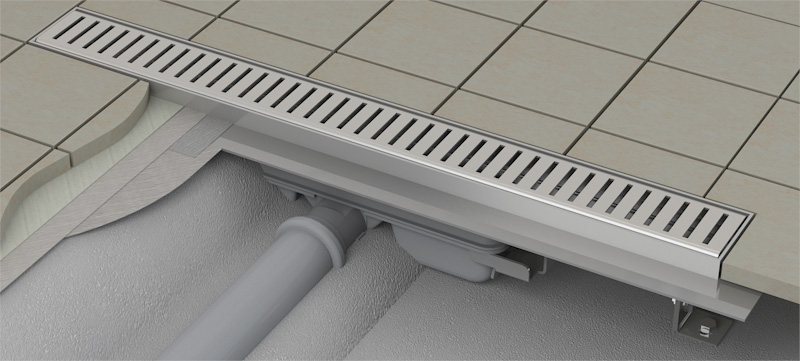 duschrinne ablaufrinne duschablauf bodenablauf duschrinnen apz101 flach 91 cm ebay. Black Bedroom Furniture Sets. Home Design Ideas