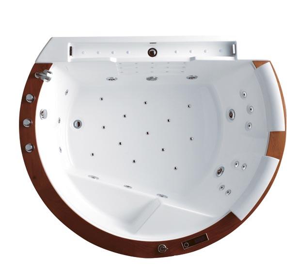 wellgems whirlpool wg u2609a whirlwanne badewanne m heizung echtholz 2 personen ebay. Black Bedroom Furniture Sets. Home Design Ideas