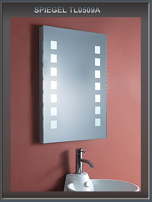 Design lichtspiegel badezimmerspiegel mit schminkspiegel for Spiegel 100x60