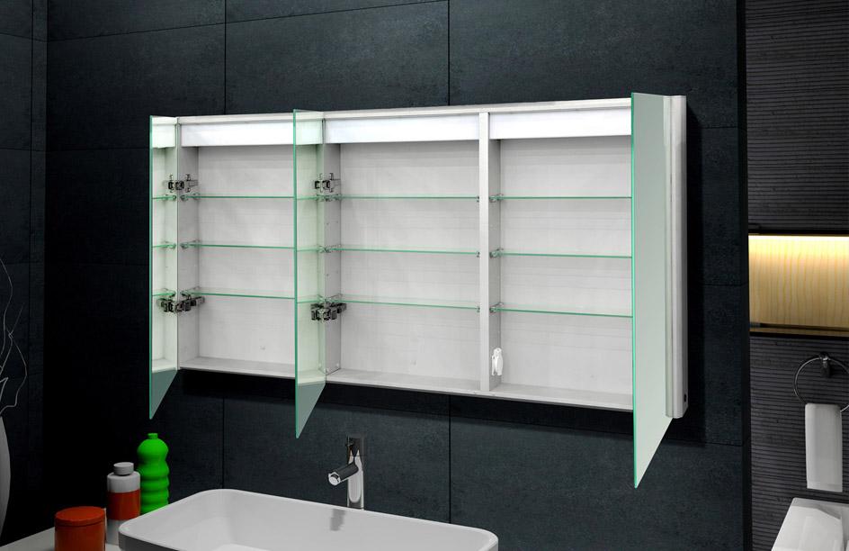 spiegelschrank design spiegel mit beleuchtung 150x70 16018b ebay. Black Bedroom Furniture Sets. Home Design Ideas