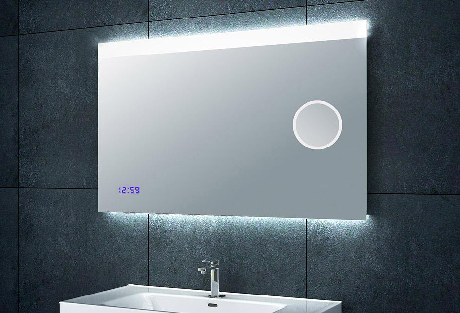 Design-Lichtspiegel-Badezimmerspiegel-mit-Schminkspiegel-Uhr