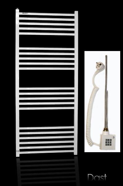 badheizk rper elektrisch weiss gerade 634x500 mm handtuchw rmer ebay. Black Bedroom Furniture Sets. Home Design Ideas